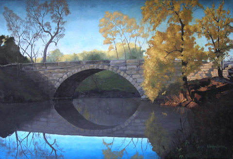 Stone Arch Bridge over Polecat Creek