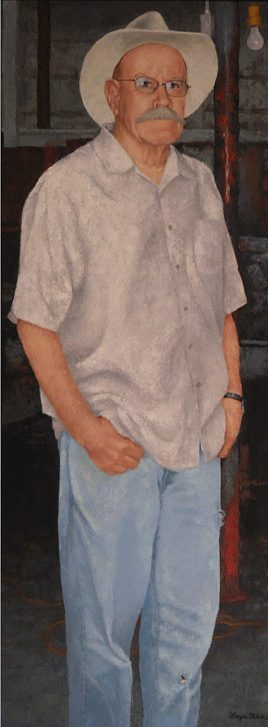 0905_Self Portrait at 82 with Panama Jack