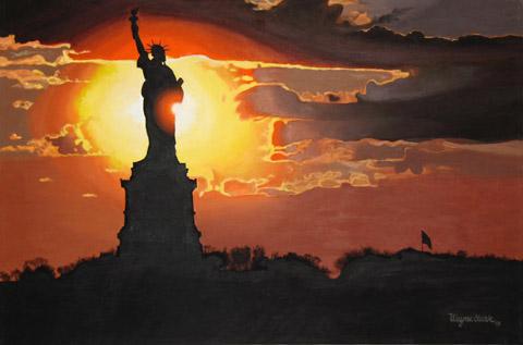 0805_Liberty Island Sunset web