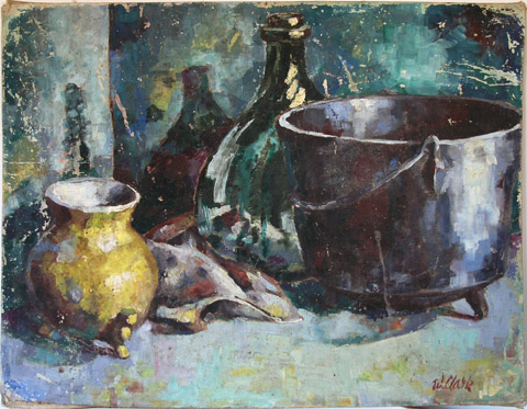 Still Life with Iron Pot