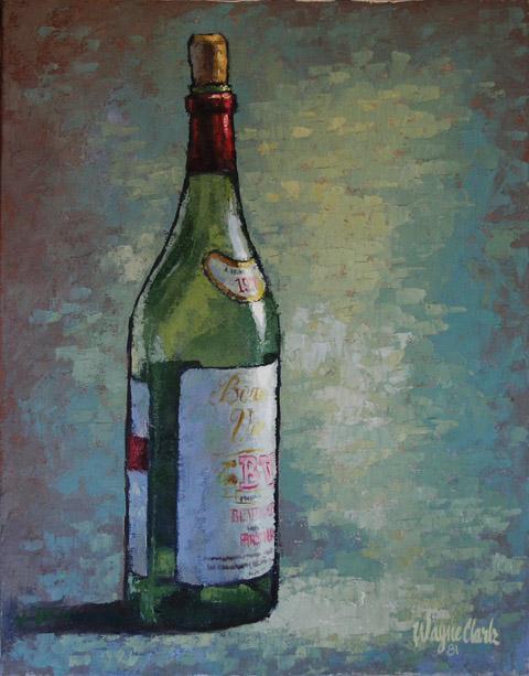 One Wine Bottle