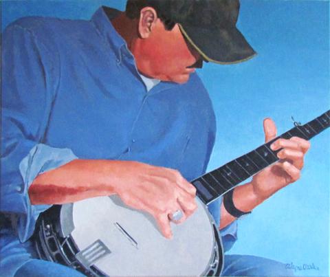 Bluegrass Man on Banjo