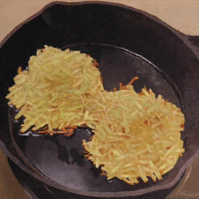 Cast Iron Skillet with Hash Browns