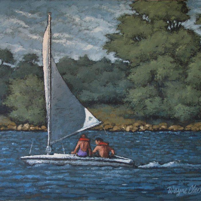 Another Sailboat on Santa Fe Lake